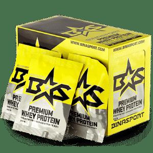 Изолят PREMIUM WHEY PROTEIN, 18x33 г в пакетах от Binasport
